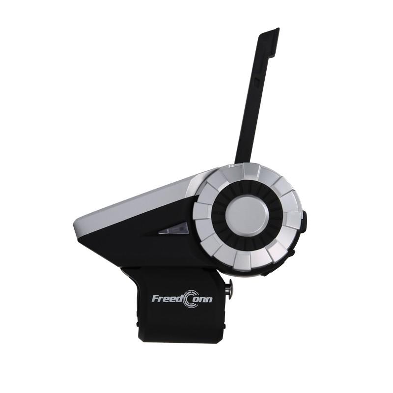 T-Rex*2pcs 1.5KM 8-Way Radio Wireless Interphone Bluetooth Intercomunicador MP3 Sharing AUX Input Motorcycle Group TalkSystem