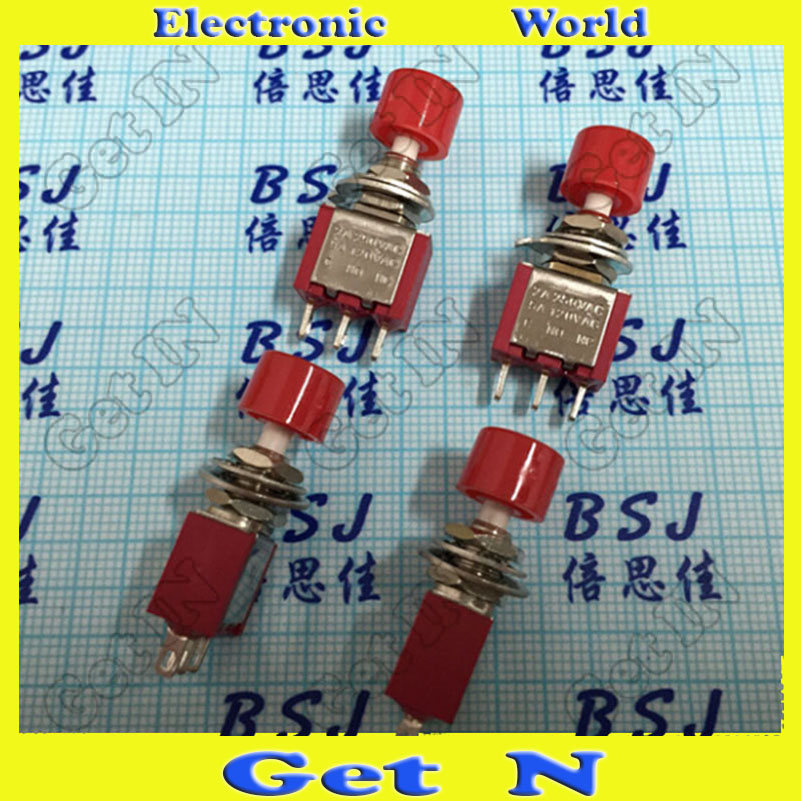 50pcs    DS-612 6mm Red Resets Toggle Switches Toggle Buttons Switch 3DIP Pins Red<br><br>Aliexpress