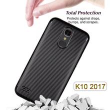 Buy Luxury Carbon Fiber Phone Bag lg LG K10 2017 Case K 10 K20 Plus X400 Harmony M250 M250N Cover Soft Full Protector Back Shell for $2.46 in AliExpress store