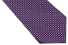 NT0541 2014 Purple White Checks New Classic Silk Polyester Man s Jacquard Woven Necktie Casual Knitted