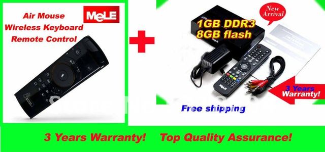 New Arrival Android 4.0 Mele A1000G mini PC TV Box F10 sensor remote air mouse 1GB DDR3 8GB flash HD 1080p christmas gift free