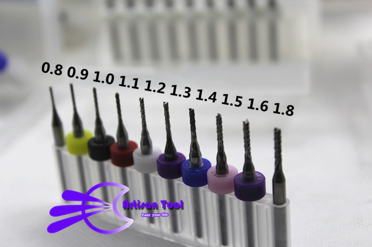 0.8-1.8mm Tungsten Carbide End Mill Engraving Bits CNC Milling Cutter PCB Drill Bits Rotary Burrs 10pcs/lot Free Shipping(China (Mainland))