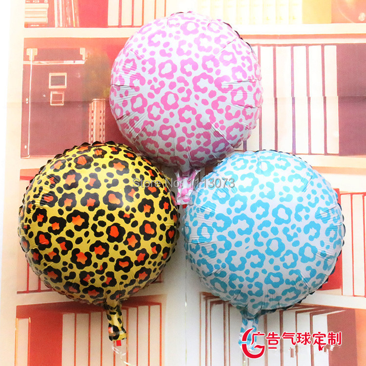 New 3colors leopard animal print 18inch foil balloons for Animal print decoration party