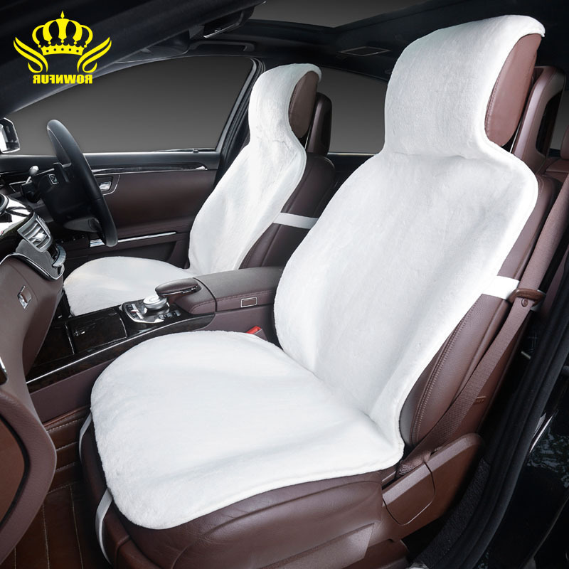 1pcs for front car seat covers faux fur cute car interior accessories cushion styling winter new
