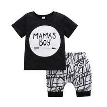 Conjunto de ropa de verano para bebé niña ropa Casual para recién nacido cuello redondo de manga corta y pantalones ropa infantil conjunto de niña(China)