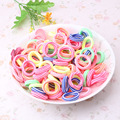 1 Pack 80 Pcs Random Colors Headband Children Hair Accessorie Kids Girl Rope Headwear Gum For