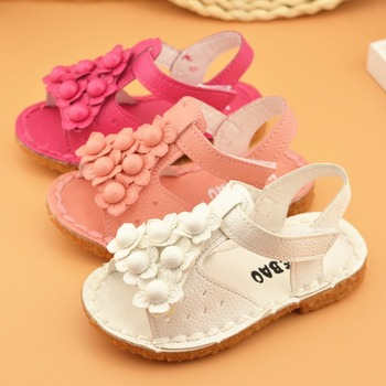 Hot sale 2015 newest baby girl's summer and spring shoes and sandals flower shoes sandals for baby girls xtp-553