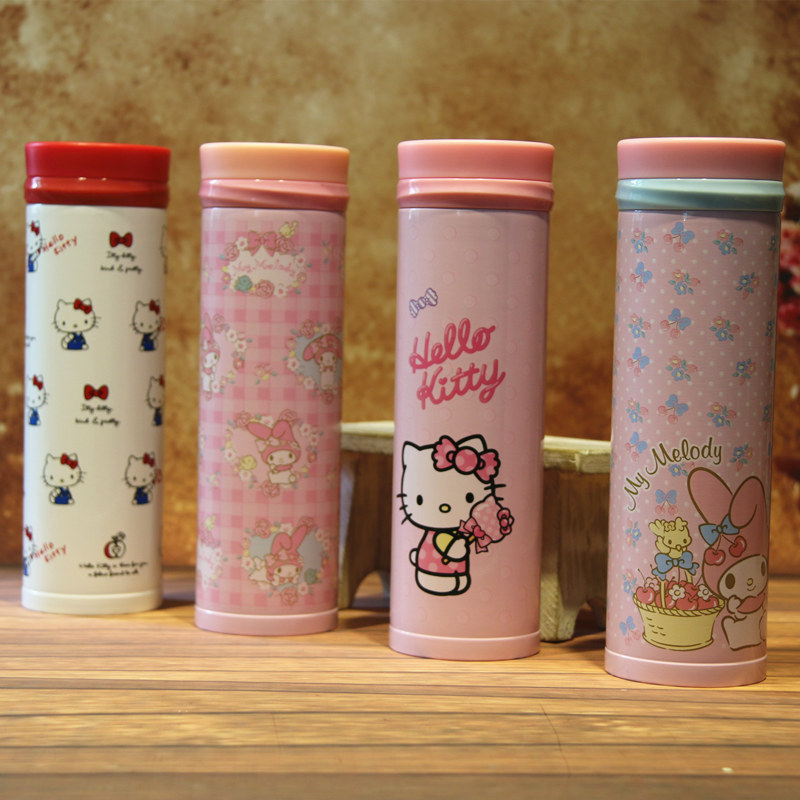 Stainless Steel Thermal insulated Thermos Cute Cartoon Portable Travel Mug For Kids Students(China (Mainland))
