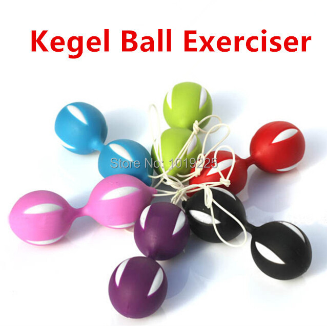 Female Smart Duotone Ben Wa Ball Weighted Female Kegel Vaginal Tight Exercise Machine Vibrators Toys for Women(China (Mainland))