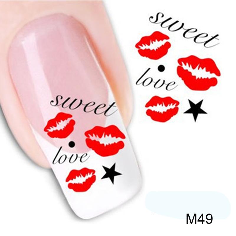 Kiss Style Watermark Nail Decals Nail Art Water Transfer Stickers Polish Manicure Decor Nail Tools(China (Mainland))