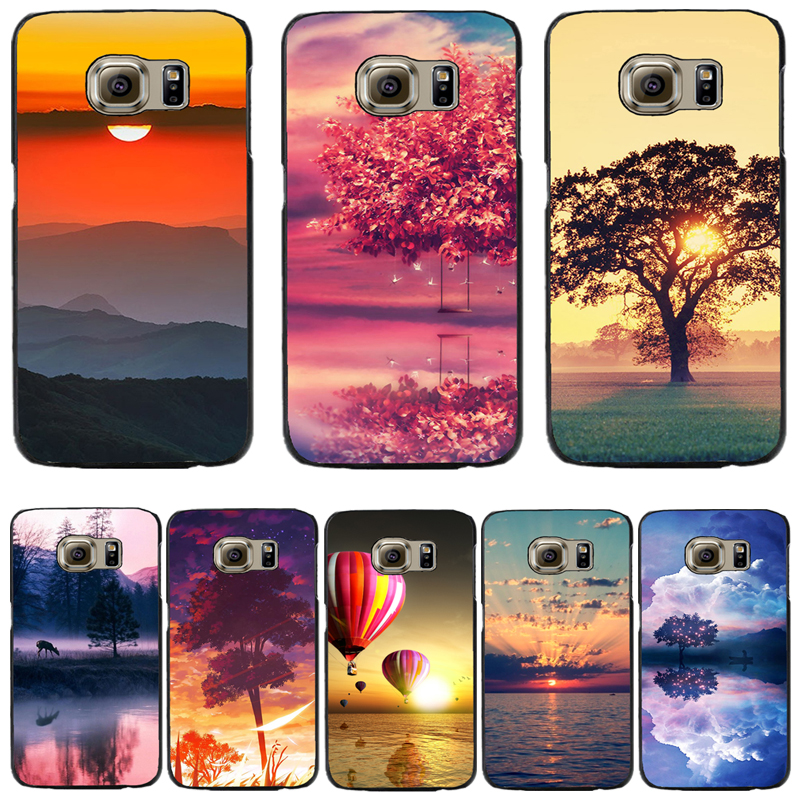 Hard PC Cover For Samsung Galaxy S6 S6edge S6 edge Plus Note5 A3 5 7 2016 A3 5 7 Phone Case Oriental Sunrise Reflecting Cow Sail(China (Mainland))