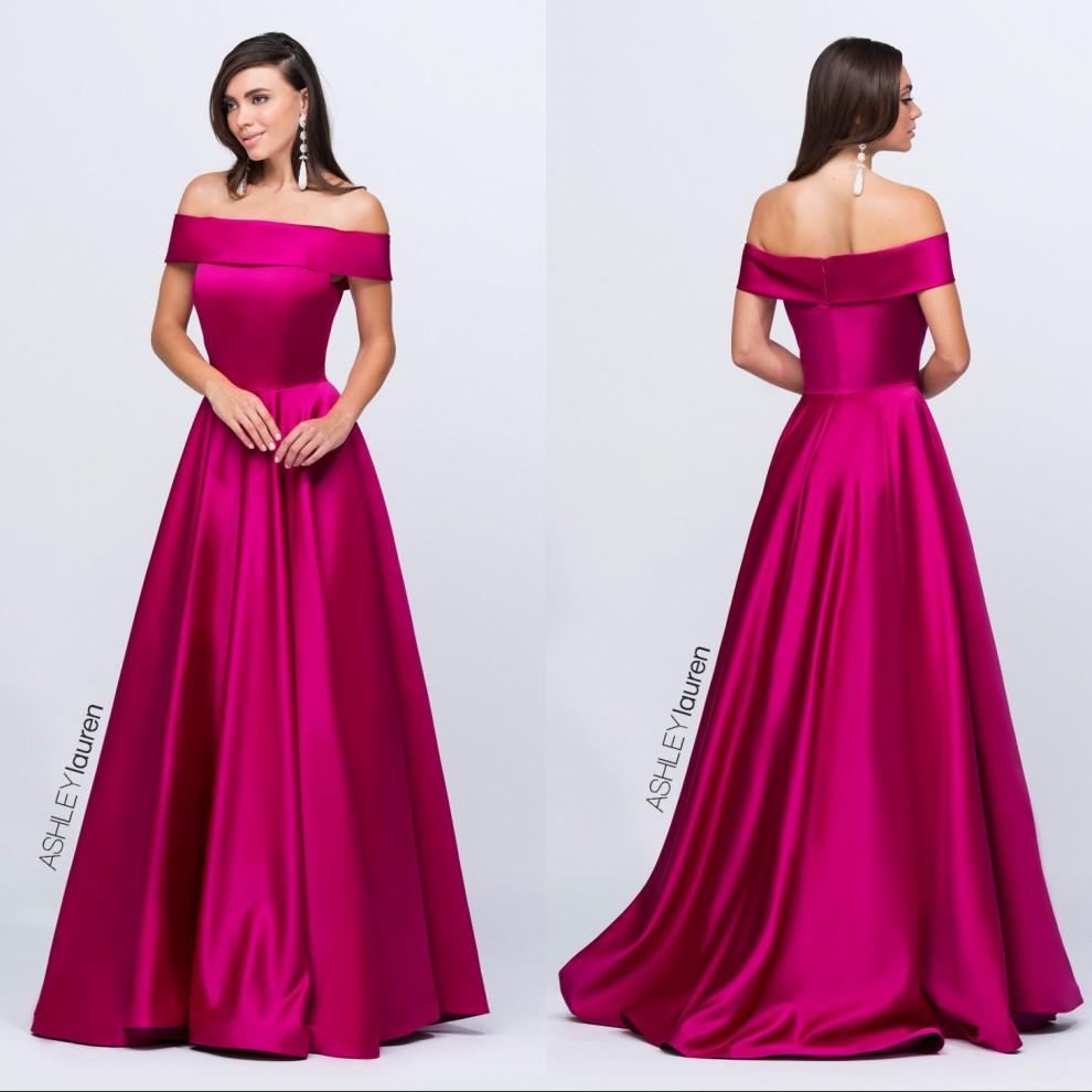 2016 Long Evening Dresses Off the Shoulder Formal Long ...