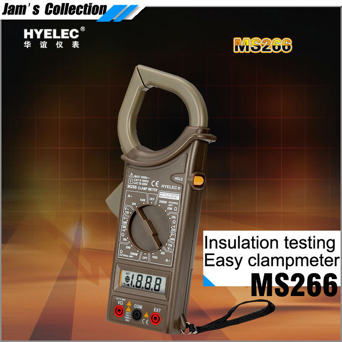 Free shipping HYELEC MS266 equal to DT266 1000V 1000A electric tester Insulation resistance clamp ammeter<br><br>Aliexpress