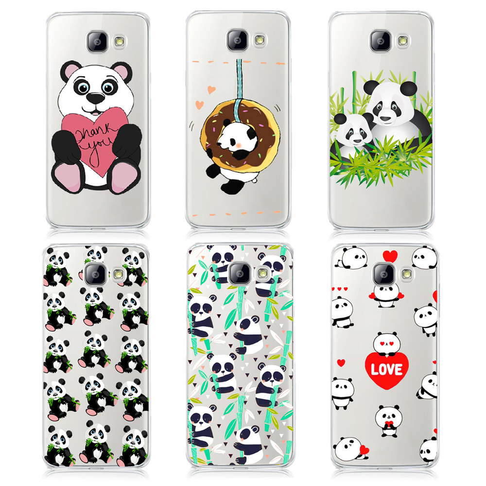 Super Cute Cartoon Animal Panda Cases For Samsung Galaxy A3 A5 A7 J1 J5 J7 2016 Hard PC Protective Smartphone Back Cover Shell(China (Mainland))