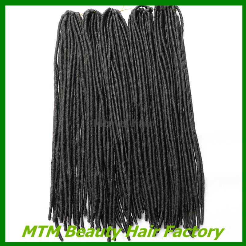 Crochet Hair Packages : 18 New soft dread lock hair faux locs crochet black dreadlocks hair...