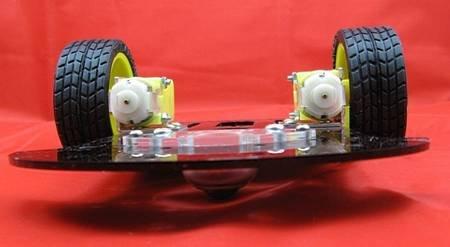 Free shipping high quality bovine eye Omni-directional 2WD Programmable robot Mobile platform robot chassis(China (Mainland))
