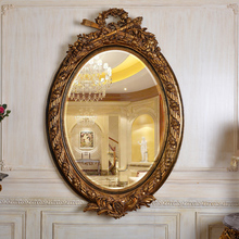 European American household antique gold resin mirror bathroom bathroom mirror(China (Mainland))