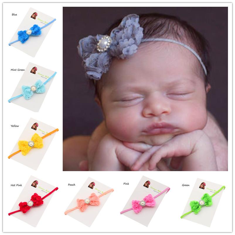 36pcs Pearl Flower headband Little Girl Hair Bows Glitter headband Sets Newborn baby Baptism Gift Fashion Headwear hair band(China (Mainland))