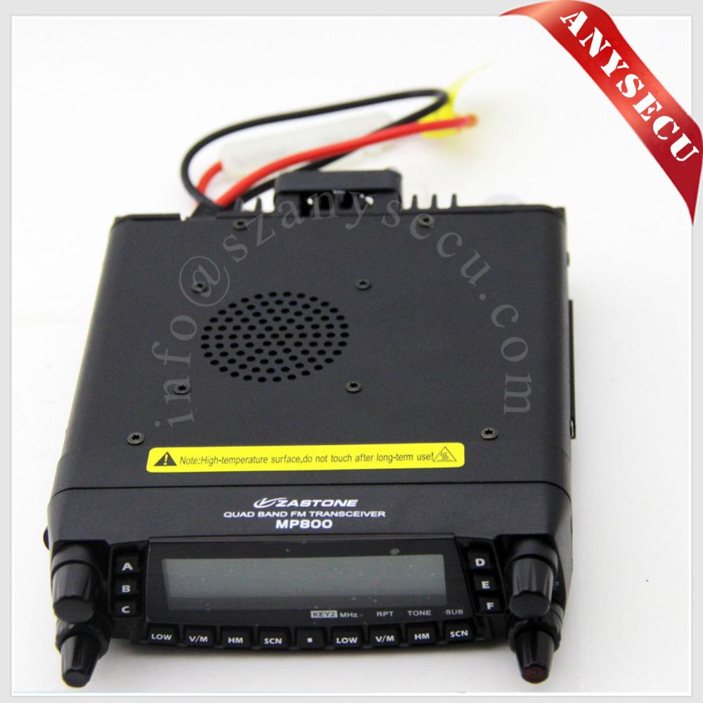3 pcs 2016 New Launch Quad Band Mobile Radio Station ZASTONE MP800 transceiver MP-800 car radio Free Shipping(China (Mainland))