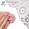 8 Designs Snowflake Water Decals Patterns Stencils Stamp Plates Stamping Set Charms Christmas Nail Art Decoration Tool
