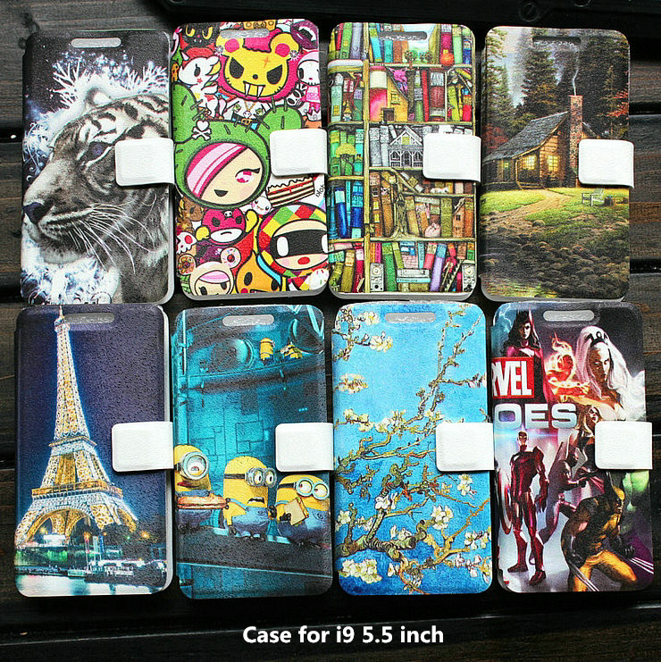 Universal PU Leather Stand phone Case for i9 5.5 inch case cover(China (Mainland))