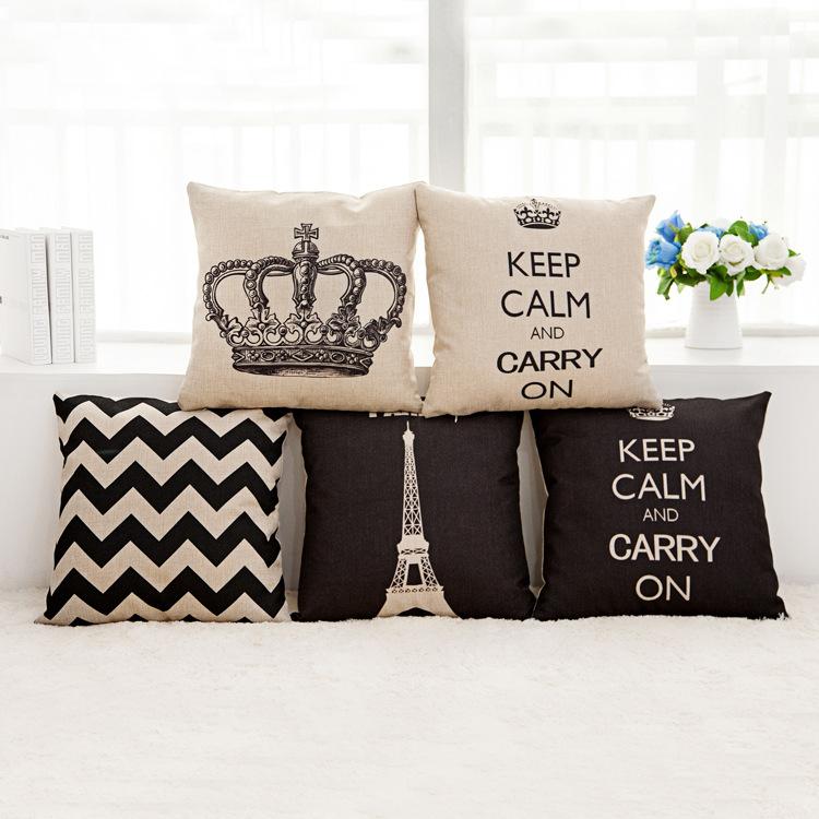 Custom Throw Pillows For Sofa : Nordic style car set Cushion Without Core Custom Cotton Linen Decorative Throw Pillows Sofa ...