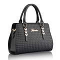 Trendy Luxury Crocodile print Woven Leather Handbag Imported PU Designer Women Shoulder Bag Fashion Casual Ladies