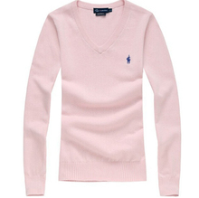2015 winter New women r solid Sweaters V neck polo sweaters and Pullovers Brand botton jumpers plus size S-XL(China (Mainland))