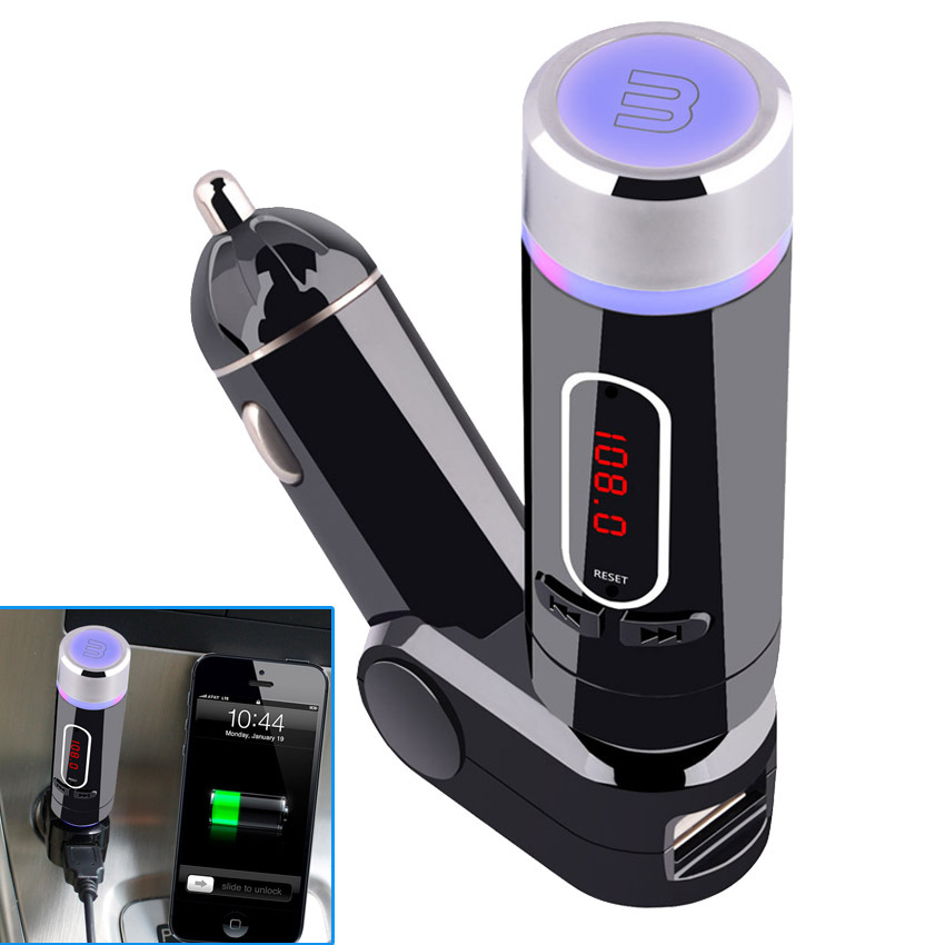 2015 New Car kit Bluetooth Wireless FM Transmitter Modulator PLL Car mp3 Player Handfree w/ USB Charger(China (Mainland))
