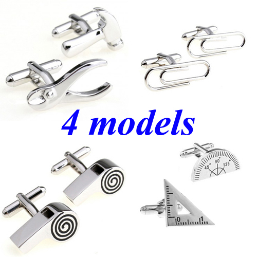 Hot Sale Paper Clip Tool Whistle Cufflink Cuff Link 1 Pair Free Shipping Biggest Promotion(China (Mainland))