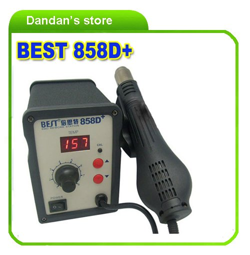 Hot Air gun/Rework Station, Hot Blower, Hot wind Gun, Heat Gun BEST-858D+(China (Mainland))