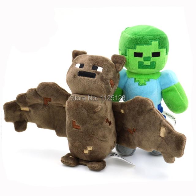 2 шт. / комплект бита и зомби наполненный плюш игрушка Minecraft кукла для детей дети мальчик игрушки год подарок