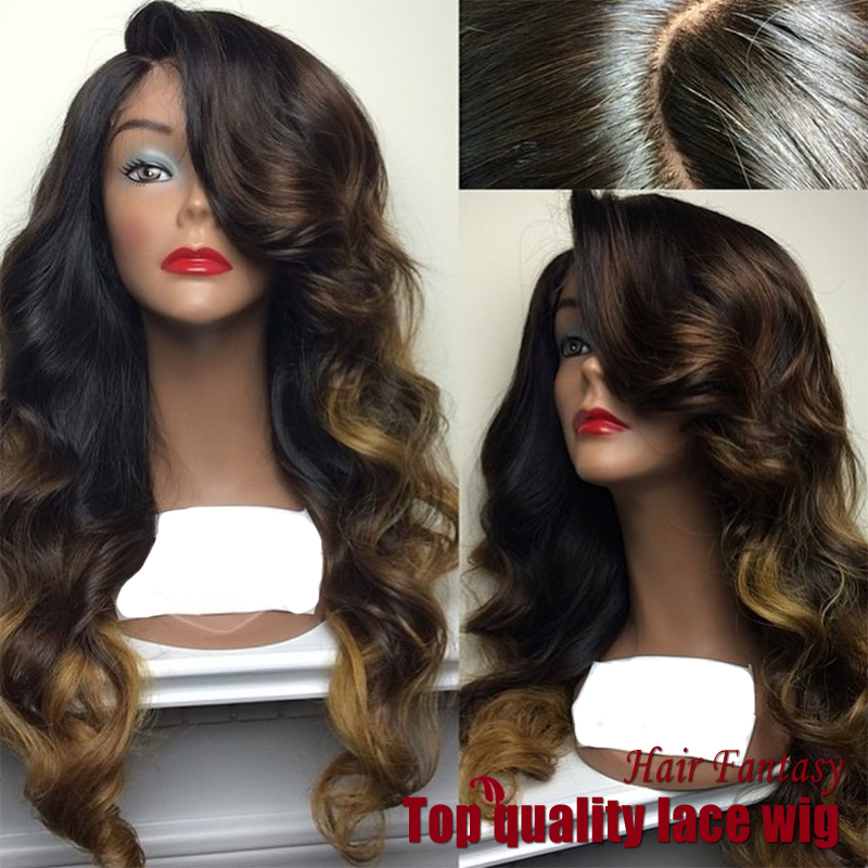 Гаджет  Cheap Price Top Quality Body Wave Wigs Synthetic Lace Front Wigs Three Tone Color Heat Resistant Hair Wigs African American Wigs None Волосы и аксессуары