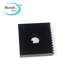 3D printer accessory DIY aluminium alloy cooling fin HEAT SINK 40mm*40mm*11mm centre hole 10.3mm top quality free shipping