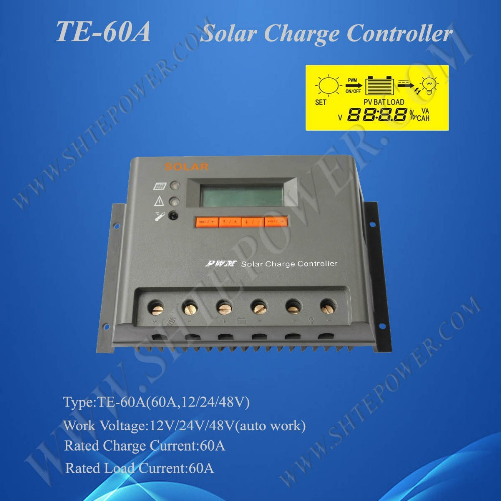 60A 12V/24V/48V Automatic Voltage Solar Charge Controller CE Controller(China (Mainland))