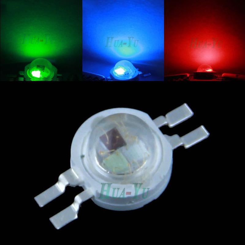 50pcs 3W RGB  High power led bead chips, led bridgelux bead emitter, lamp led beads for floodlight, spotlight, bulb light<br><br>Aliexpress
