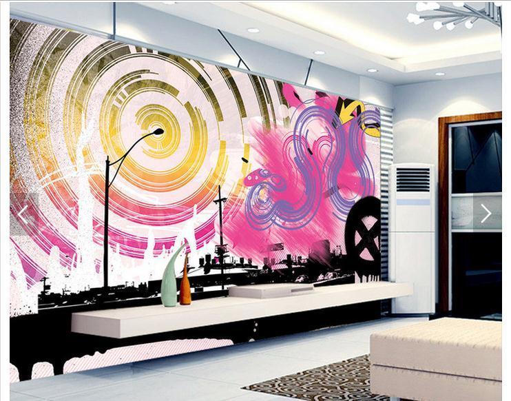 murales de pared de graffiti compra lotes baratos de murales de pared de graffiti de china. Black Bedroom Furniture Sets. Home Design Ideas