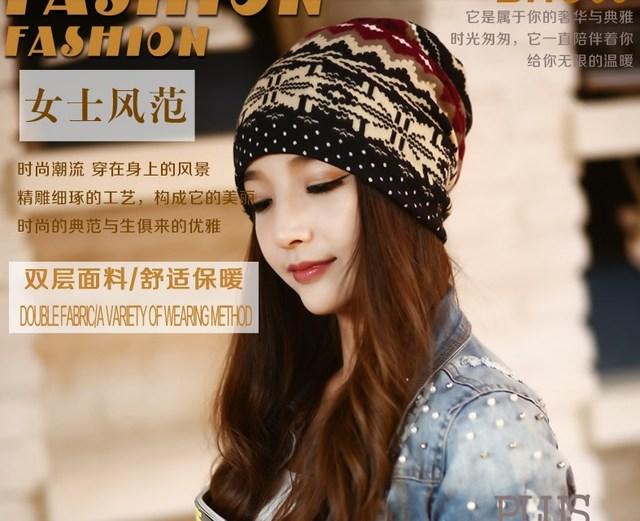 1 шт. новая коллекция весна и осень 3 износа пути шапочка кашемир полый шапочку и кольцо шарф теплая шапка для женщин грелки шеи капот шапочки