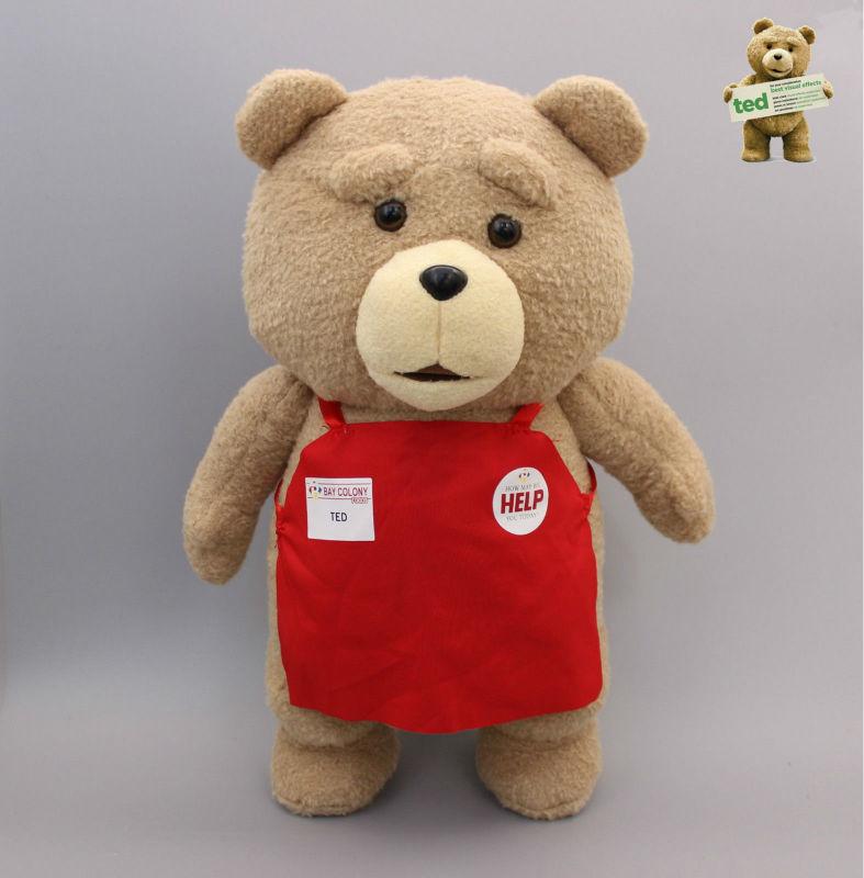 Cartoon Movie Teddy Bear TED Plush Toys Soft Stuffed Animal Dolls Classic Toy 45CM 18'' Kids Gift(China (Mainland))