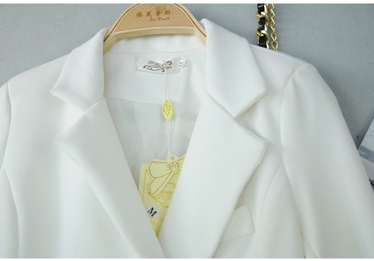 Brand New Outerwear 2015 Autumn Winter Women Double Breasted White Trench Coat Desigual Long Coat For