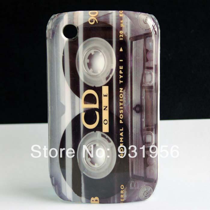 CD Cassette Tape Design Hard Plastic Cover Skin Case For Blackberry Curve 8520 8530(China (Mainland))