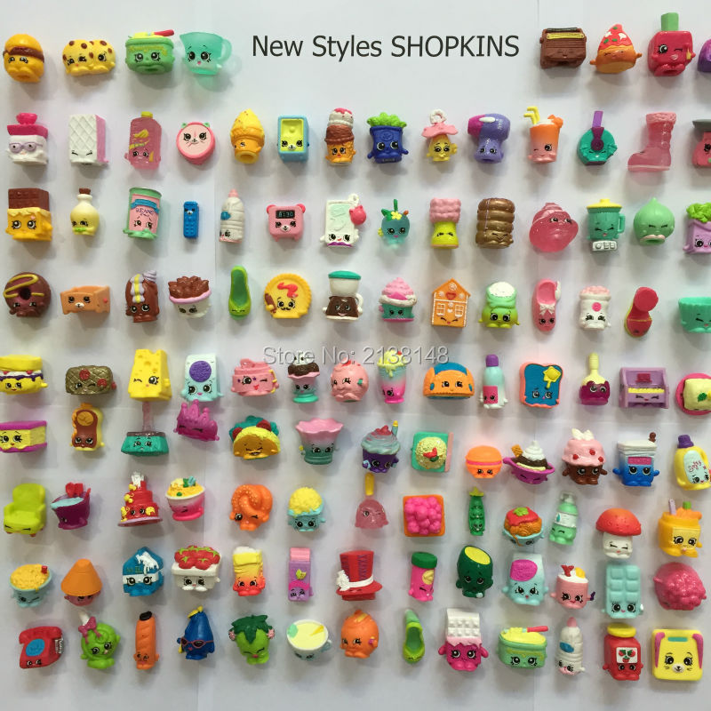 2016 New Style 20Pcs/Set Shopkins Toy Holiday Gifts Kids Toy SHOPKINS Season 1 2 3 Rare SHOPKINS Season 4 5 Latest Shopping(China (Mainland))