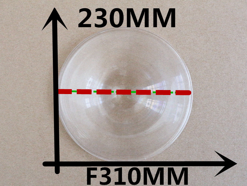 PMMA Fresnel Lens Diameter 230 mm Focal length 310mm Fresnel Lens solar Free shipping 2015 Hot DIY TV Projection Enlarge image(China (Mainland))
