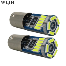 Buy WLJH 2pcs Pure White Error Polarity Ba9s T4W Led Lamp 3W 4014 SMD 12V Car Instrument Parking Marker LED Lights Bulb Canbus for $4.78 in AliExpress store