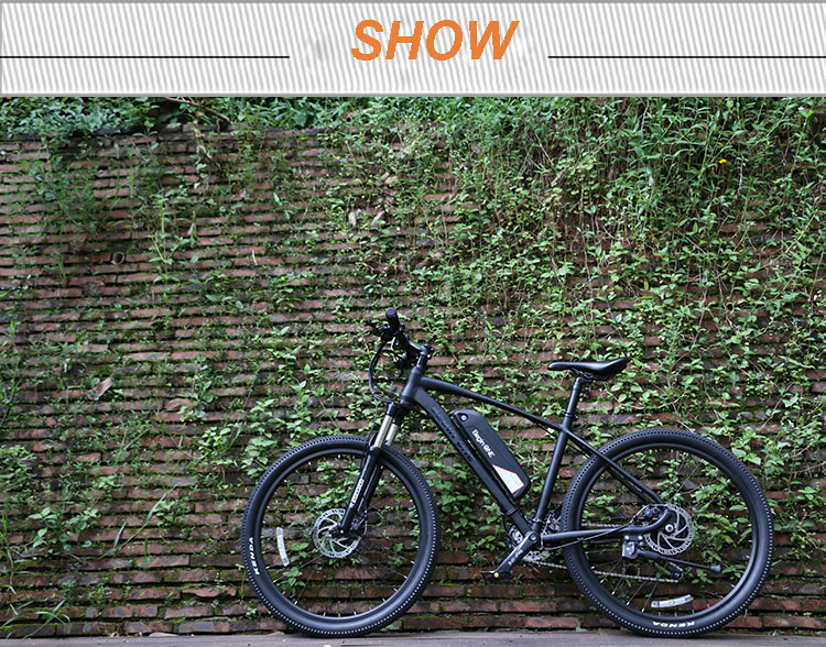 26 inches Smart electric mountain bike 36v lithium-ion battery 250w motor drive 27 speed Suspension electric mountain Ebike