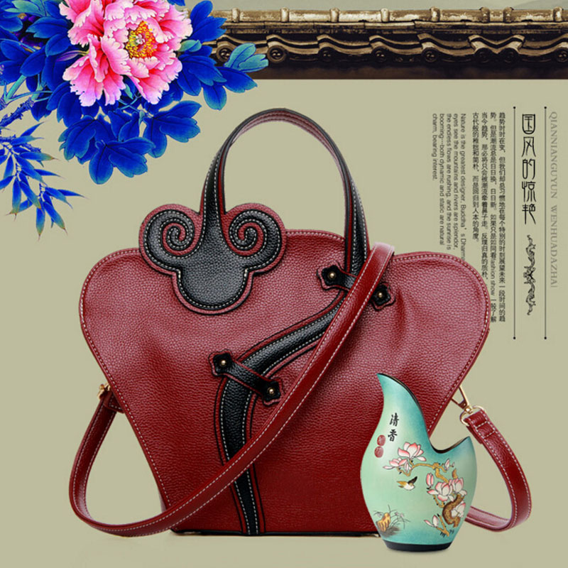 2016 Women Leather Handbags Luxury Good Quality Lady Flower Shoulder Bag Chinese National Style Messenger Bags Tote Woman Bags <br><br>Aliexpress