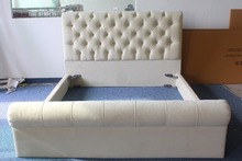 Latest creative design fabric bed of natural style for home or hotel decoration