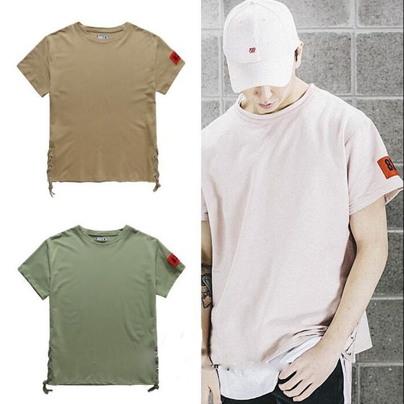 Kpop hip hop big and tall khaki pink plus size plain blank for Hip hop t shirts big and tall
