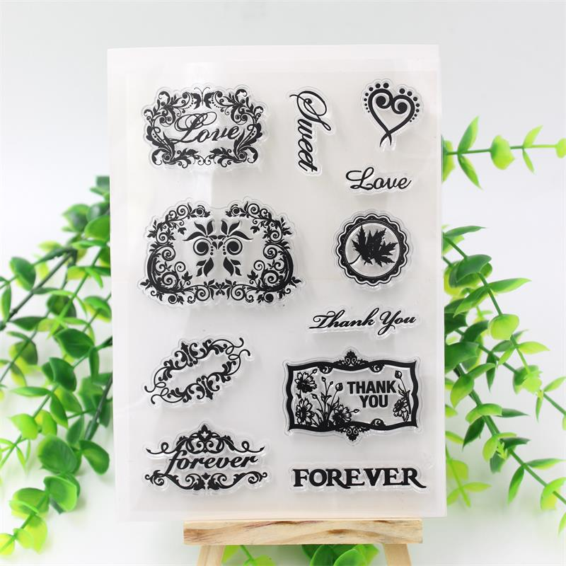 Sweet Love Transparent Clear Silicone Stamp/Seal for DIY scrapbooking/photo album Decorative clear stamp sheets