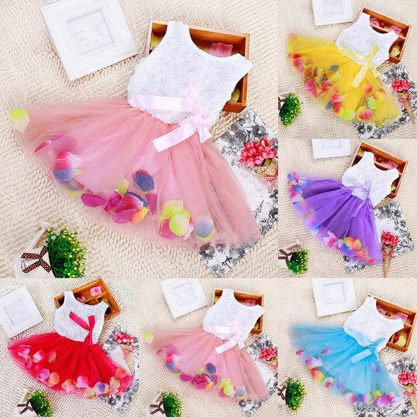 Toddler Baby Kid Girls Princess Party Tutu Dress Lace Bow Flower Dresses Child Clothes(China (Mainland))